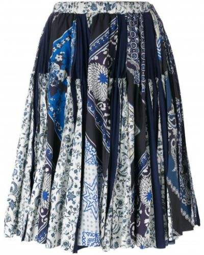 С орнаментом синяя юбка Wunderkind