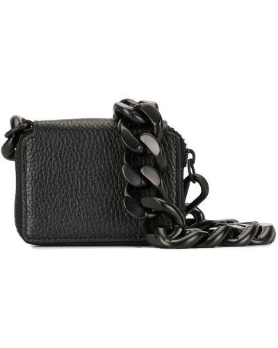 С ремешком кожаный черный кожаный кошелек прямоугольный Kara
