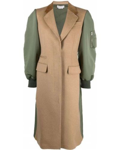 Зеленое шерстяное пальто Alexander Mcqueen