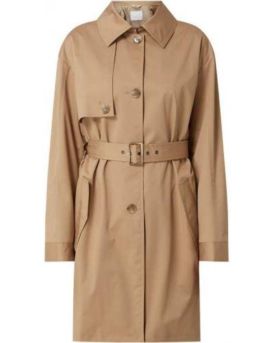 Bawełna brązowy z paskiem trencz z kołnierzem Boss Casualwear