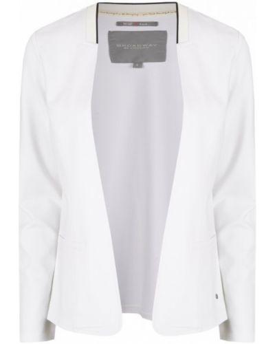 Белый пиджак из вискозы Broadway
