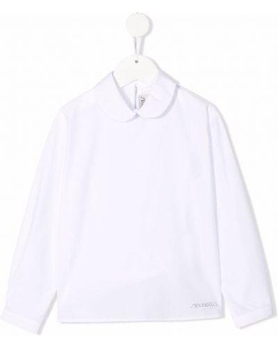 Biała biała koszula bawełniana Simonetta