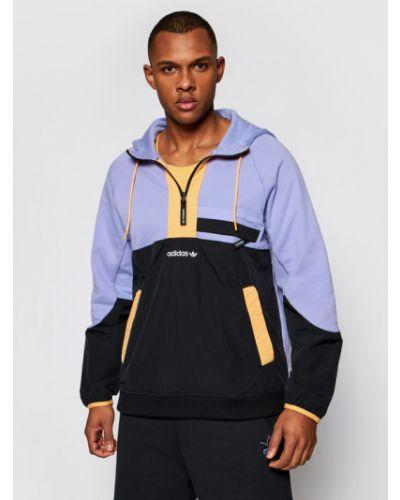 Fioletowa bluza materiałowa Adidas