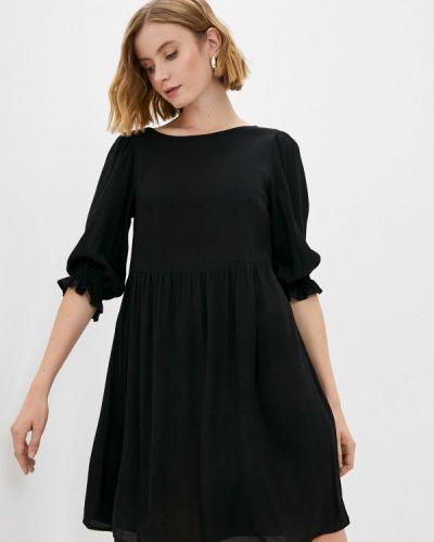 Черное зимнее платье Raya