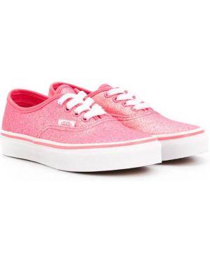 Sneakersy z logo różowy Vans Kids