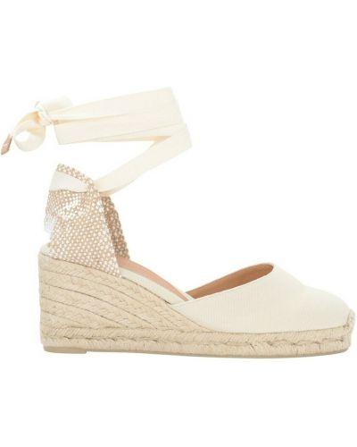 Białe sandały Castaner