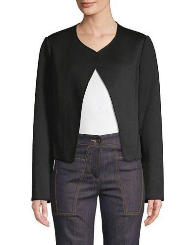 Шерстяная черная длинная куртка с длинными рукавами Derek Lam