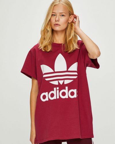 Футболка хлопковая с принтом Adidas Originals