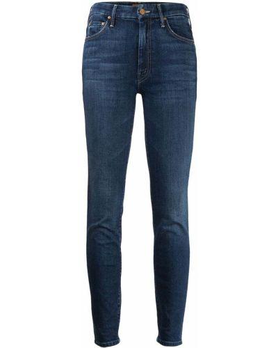 Синие зауженные джинсы-скинни с карманами Mother