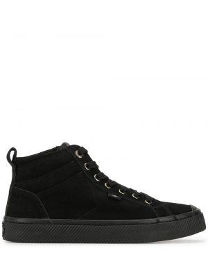 Czarne wysoki sneakersy zamszowe Cariuma