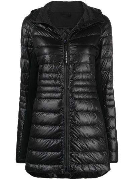 Черное пуховое пальто классическое с капюшоном Canada Goose