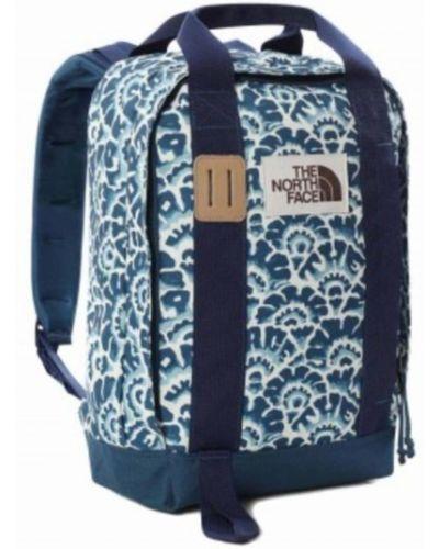 Niebieski plecak sportowy na co dzień z printem The North Face