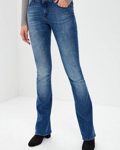 Широкие джинсы расклешенные синие Met