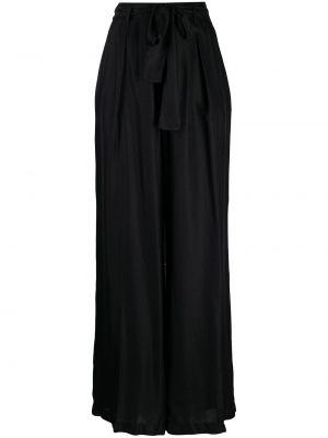 Шелковые брюки - черные Forte Forte