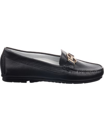 Мокасины кожаные черные Byblos