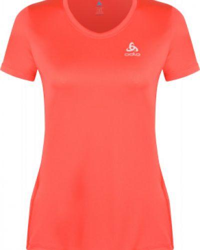 Розовая прямая спортивная футболка для бега Odlo
