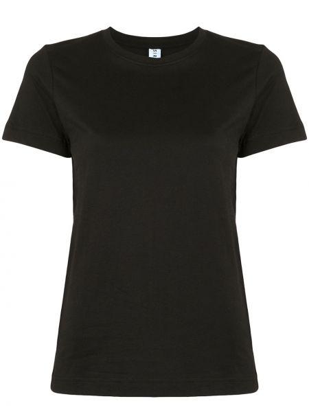 Хлопковая облегающая черная футболка с круглым вырезом Sir.