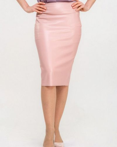 Кожаная юбка розовая Dressinjoy By Lipashova & Malko