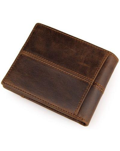 Кожаный кошелек на молнии с карманами Vintage
