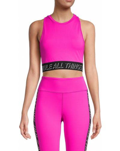 Розовый лиф без рукавов на резинке Pam & Gela