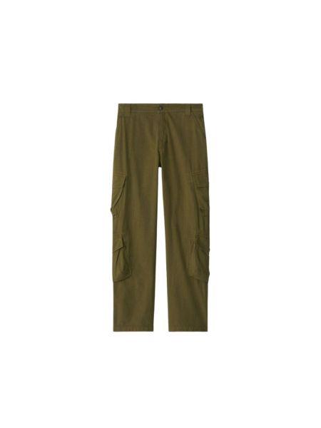 Zielone spodnie z haftem Kenzo
