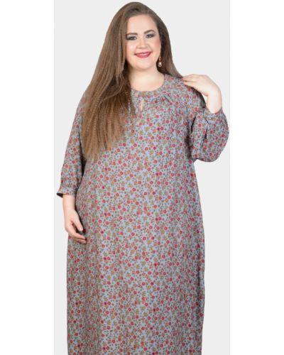 Платье с поясом серое на пуговицах Avigal (avrora)