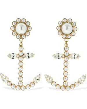 Szare kolczyki sztyfty perły srebrne Rowen Rose