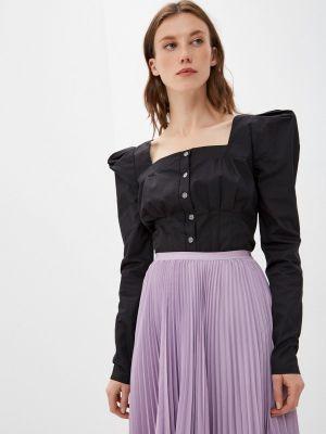 Блузка с открытыми плечами - черная Goldrai
