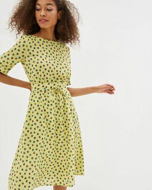 Платье прямое желтый Po Pogode