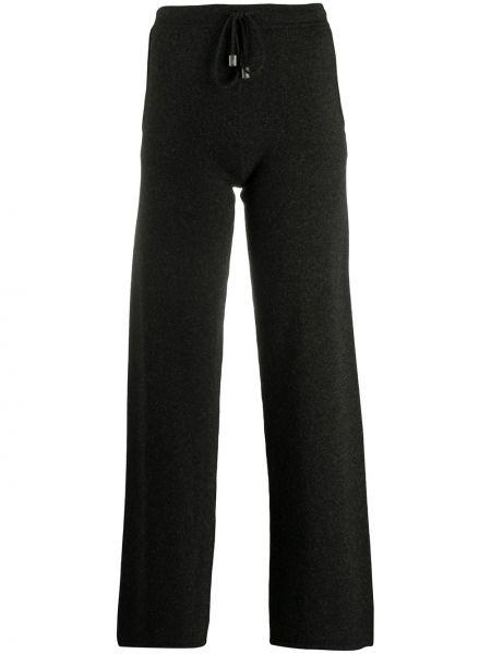 Кашемировые серые брюки с поясом свободного кроя Gentry Portofino