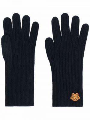 Rękawiczki wełniane - niebieskie Kenzo