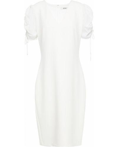 Белое текстильное платье с подкладкой на крючках Badgley Mischka