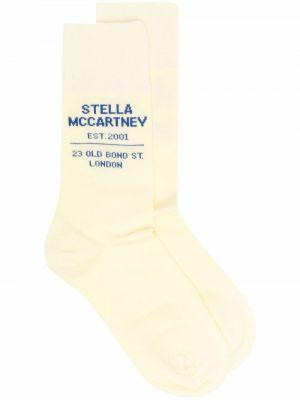 Prążkowane białe skarpety bawełniane Stella Mccartney