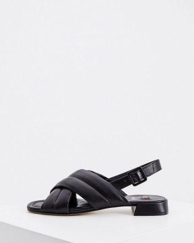 Черные кожаные сандалии Hogl