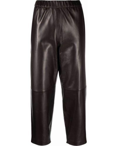 Brązowe spodnie skorzane Dusan