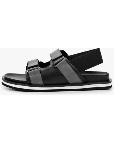 Черные кожаные сандалии Mascotte
