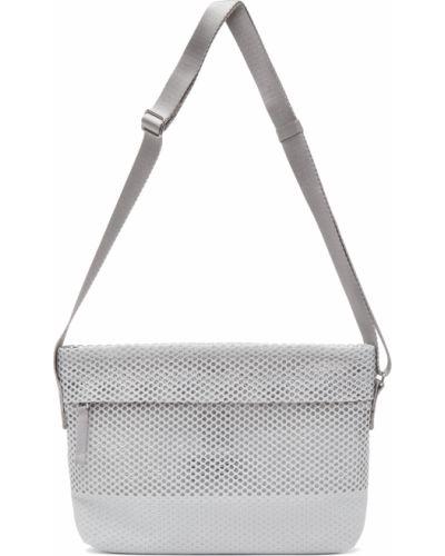 Szara torba na ramię srebrna z siateczką 132 5. Issey Miyake