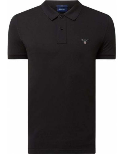 T-shirt bawełniana - czarna Gant