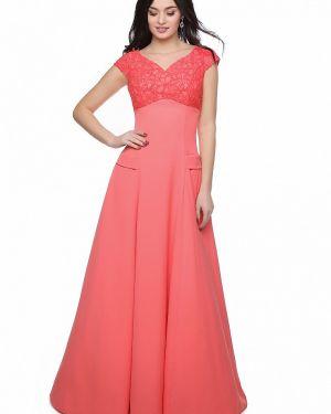 Вечернее платье коралловый красный Grey Cat