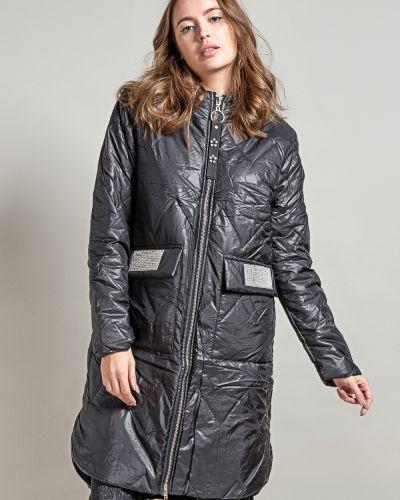 Брендовое с рукавами черное пальто Coco Max