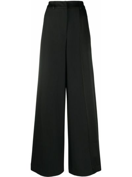 Свободные черные деловые укороченные брюки свободного кроя Andrea Ya'aqov