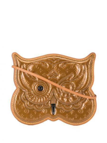 Кожаная коричневая сумка на плечо винтажная Louis Vuitton