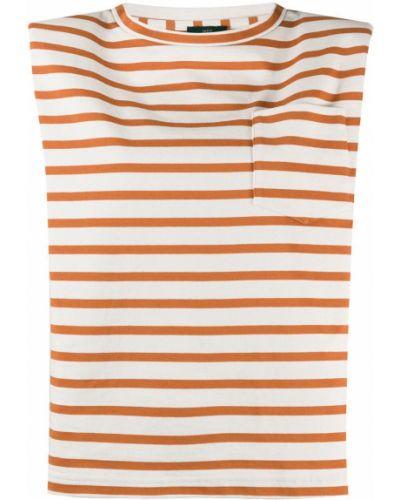 Хлопковая прямая оранжевая футболка с круглым вырезом Jejia