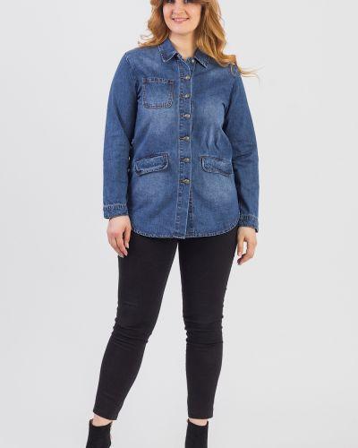 Джинсовая куртка на пуговицах синий Lacywear