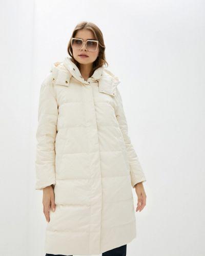 Бежевая утепленная куртка Stefanel