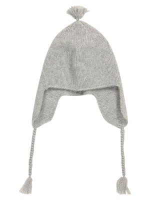 Серая кашемировая шапка бини Bonpoint
