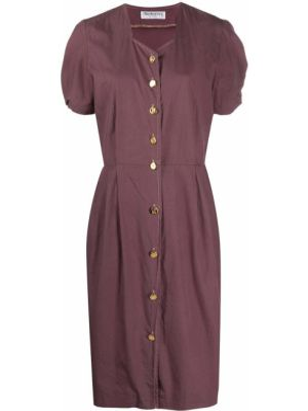 Платье винтажная на пуговицах Burberry Pre-owned
