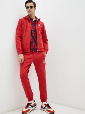 Красный зимний спортивный костюм Bikkembergs