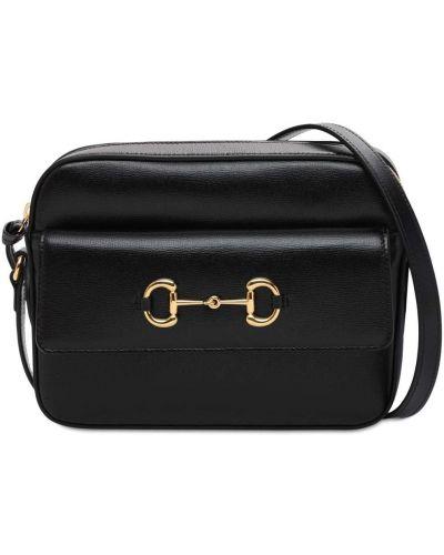 Кожаная сумка на молнии с подкладкой Gucci