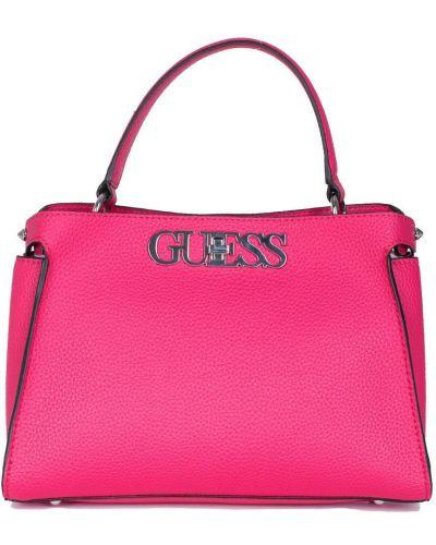 Розовая сумка через плечо из искусственной кожи Guess